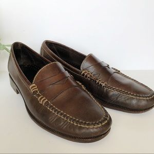 Cole Haan Brown Penny Loafers Slip On Dress Shoes